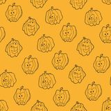 Seamless pattern for Halloween with pumpkins Stock Photography