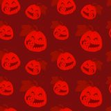 Seamless pattern with Halloween pumpkins. Vector illustration Royalty Free Stock Photography