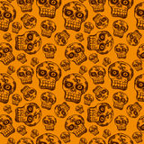 Seamless pattern with halloween skull Stock Images