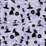 Seamless Pattern, Halloween Symbols Stock Images