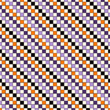 Seamless pattern in Halloween traditional colors. Abstract repeated bright diagonal lines background. Stock Images