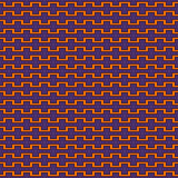 Seamless pattern in Halloween traditional colors. Battlement curved lines abstract background. Vector illustration. Seamless pattern in Halloween traditional stock illustration