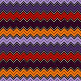 Seamless pattern in Halloween traditional colors. Classic geometric ornament. Zigzag horizontal lines wallpaper. Seamless pattern in Halloween traditional Stock Photo