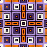 Seamless pattern in Halloween traditional colors. Repeated squares bright ornamental abstract background. Can be used for digital paper, textile print, page Stock Photography