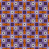 Seamless pattern in Halloween traditional colors. Repeated squares bright ornamental abstract background. Can be used for digital paper, textile print, page Royalty Free Stock Image