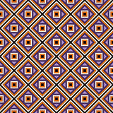Seamless pattern in Halloween traditional colors. Repeated squares and rhombuses bright ornamental abstract background. Can be used for digital paper, textile Royalty Free Stock Photography