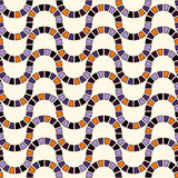 Seamless pattern in Halloween traditional colors. Stained glass mosaic bright abstract background. Royalty Free Stock Image