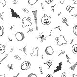 Seamless pattern for Halloween on white background vector illustration