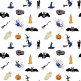 Seamless pattern for Halloween. White background. Vector. royalty free illustration