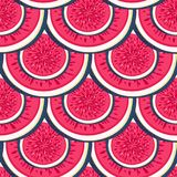 Seamless pattern with halves figs. Healthy dessert. Fruity repeating background. Hand drawn fruits. Exotic food. Wrapping, print on clothes, wallpaper, summer Stock Image