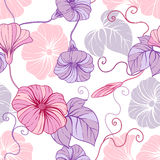 Seamless pattern with hand draw flowers, floral Royalty Free Stock Photos