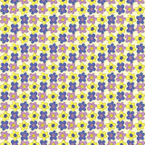 Seamless Pattern with Hand Drawing Flowers. Summer Texture. Royalty Free Stock Images