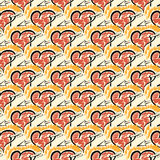 Seamless pattern of hand drawing hearts Royalty Free Stock Photo