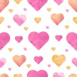 Seamless pattern with hand drawing hearts. Vector illustration royalty free illustration
