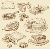 Seamless pattern-hand drawn Stock Images
