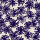Seamless pattern of hand drawn abstract flowers. Background ornament in vintage style. Stock Photo
