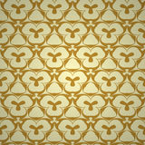 Seamless pattern with hand drawn abstract geometric golden ornament. Template for your design. Vector illustration Royalty Free Stock Photography