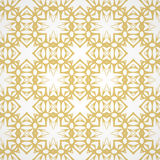 Seamless pattern with hand drawn abstract geometric golden ornament. Template for your design. Vector illustration Royalty Free Stock Photo