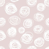 Seamless pattern of hand drawn abstract roses. Background ornament in vintage style Royalty Free Stock Images