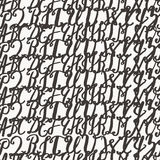 Seamless pattern with hand drawn alphabet Royalty Free Stock Images