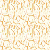 Seamless pattern with hand drawn alphabet Stock Photography