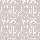 Seamless pattern with hand drawn alphabet Stock Photo