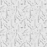 Seamless pattern from hand drawn arrows Stock Image