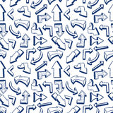 Seamless pattern with hand drawn arrows Royalty Free Stock Images