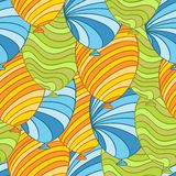 Seamless pattern of hand drawn balloons, vector Stock Photography