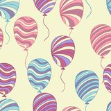 Seamless pattern of hand drawn balloons, vector Royalty Free Stock Image