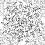Seamless pattern with hand drawn bellflowers. Stock Image