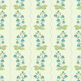 Seamless pattern with hand drawn bellflowers. Royalty Free Stock Images
