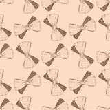 Seamless pattern with hand drawn bow. Background for gifs, tags Royalty Free Stock Photos