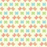 Seamless pattern with hand drawn butterflies Royalty Free Stock Image