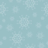Seamless pattern with hand drawn Christmas snowflake  for winter holidays Vintage  New Year design Stock Photo
