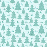 Seamless pattern with hand drawn christmas trees Stock Image