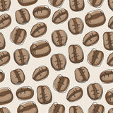 Seamless pattern of hand drawn coffee beans Stock Image