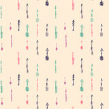 Seamless pattern with hand drawn colored arrows. Vector arrows pattern for web, mobile and print Stock Illustration