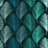 Seamless pattern with hand-drawn colored feathers. Abstract doo Royalty Free Stock Image