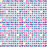 Seamless pattern with hand drawn colorful checkmarks Royalty Free Stock Image