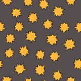 Seamless pattern with hand drawn colorful stars. Seamless pattern with hand drawn colorful star bubbles. Vector illustration Royalty Free Stock Photography