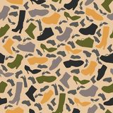 Seamless pattern with Hand drawn contour Shoes. Vector illustration Royalty Free Stock Photography