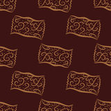 Seamless pattern from hand drawn curl candies Stock Photo