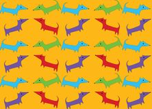 Seamless pattern with hand drawn dog, bedding pattern, wrapping paper vector illustration vector illustration