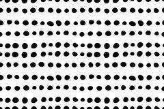 Seamless pattern with hand drawn doodle small black dots. stock illustration