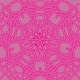 A seamless pattern with hand drawn ornaments on a pastel pink background royalty free stock photo