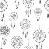 Seamless pattern with hand drawn dreamcatchers Royalty Free Stock Photo