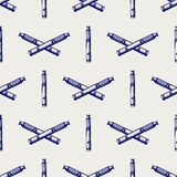 Seamless pattern with hand drawn e-cigarette Royalty Free Stock Photo