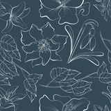 Seamless pattern with hand drawn elements royalty free illustration