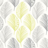 Seamless pattern with hand-drawn  feathers. Abstract doodle bac Royalty Free Stock Image